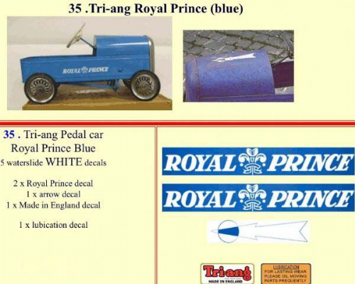 35 Tri-ang Royal Prince (blue)